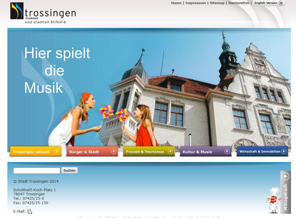Homepage Trossingen